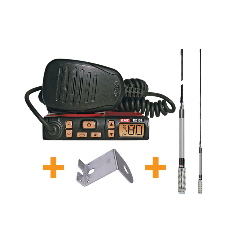 GME TX3100VP UHF Two Way CB Radio Starter Kit for Caravan, Truck, RV