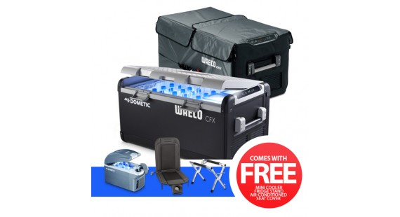 Best Price on Dometic Waeco CFX100W Portable Fridge with Cover, Fridge Stand, Air Conditioned Seat Cover, Mini Cooler